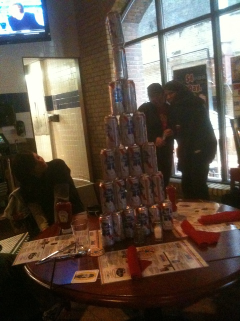 PBR Tallboy Beeramid at Smalley's 87 Club