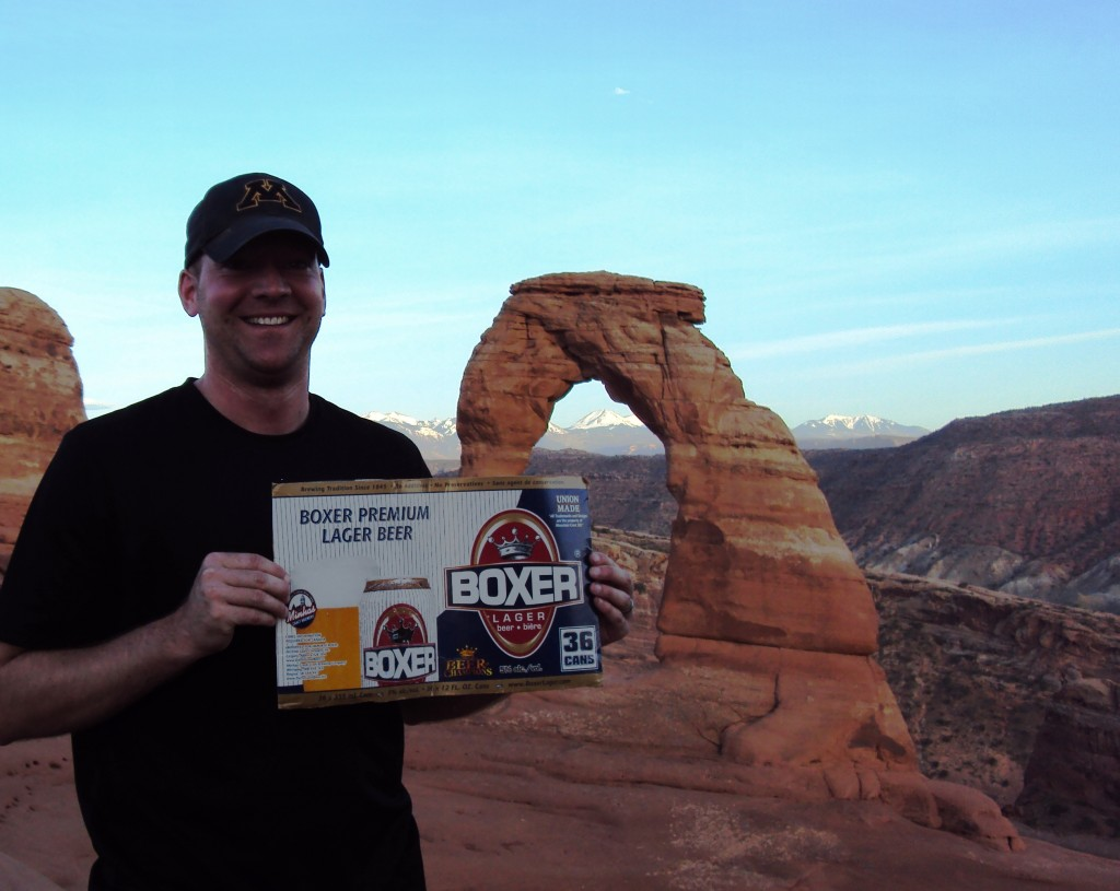 Boxer at Delicate Arch