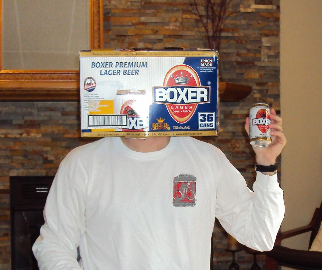 Boxer Lager Box Head