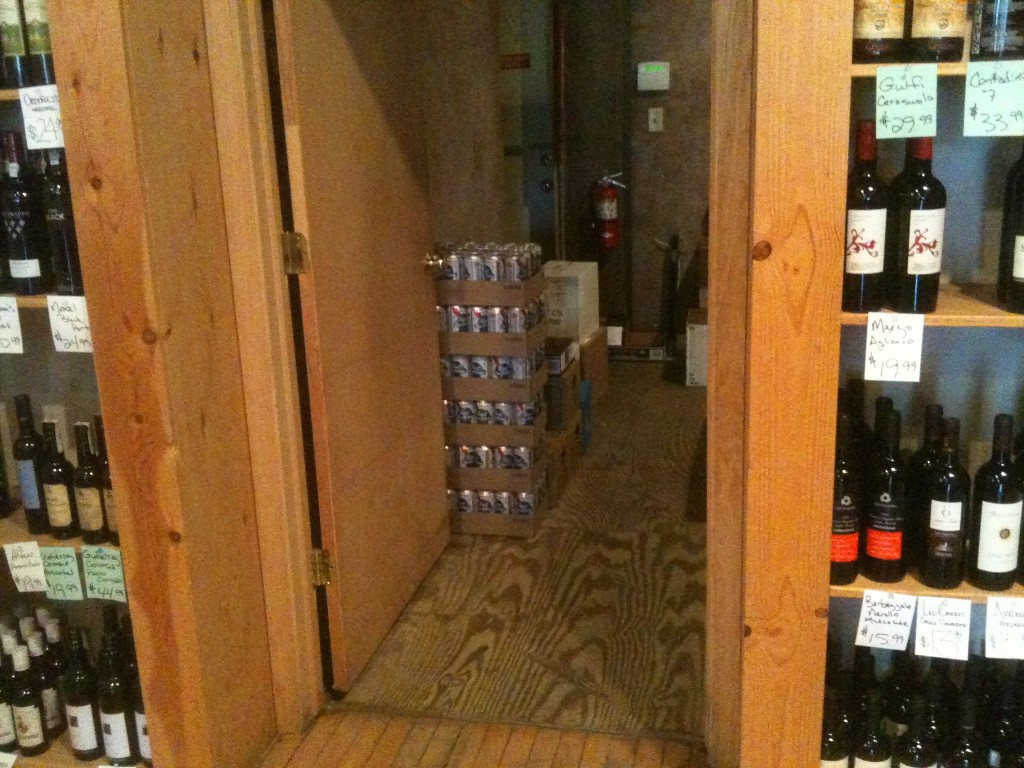 PBR Tallboys at the Wine Shoppe